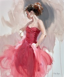 Red Dress Pose by Mark Spain -  sized 20x24 inches. Available from Whitewall Galleries